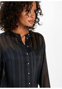 Czarna bluzka bonprix w paski