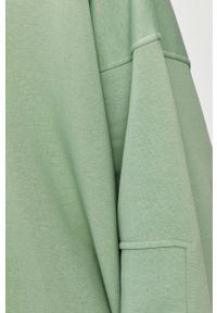 Miętowa bluza Answear Lab wakacyjna, długa