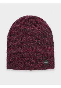 Różowa czapka zimowa outhorn melanż #2