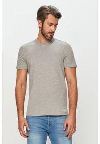 Szary t-shirt Tom Tailor Denim casualowy, na co dzień