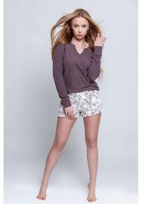 Sensis - Piżama Lampart. Kolor: fioletowy. Długość: długie