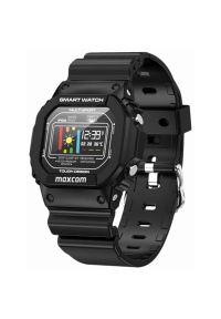 Czarny zegarek Maxcom sportowy