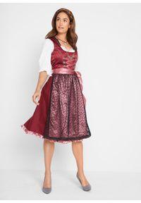 Czerwona sukienka bonprix klasyczna, z nadrukiem