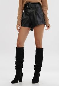 Born2be - Czarne Szorty Mildsong. Stan: podwyższony. Kolor: czarny. Długość: krótkie