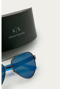 Armani Exchange - Okulary. Kolor: szary
