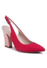 Czerwone sandały Loretta Vitale na co dzień, casualowe