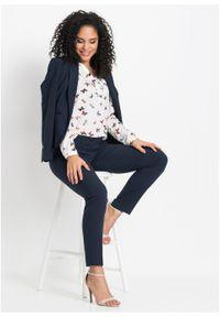 Spodnie biznesowe bonprix ciemnoniebieski. Okazja: na spotkanie biznesowe. Kolor: niebieski. Styl: biznesowy