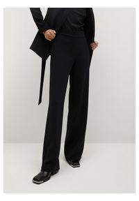 mango - Mango Spodnie materiałowe Palachin 87054019 Czarny Regular Fit. Kolor: czarny. Materiał: materiał