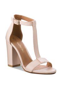 Beżowe sandały Szydłowski eleganckie