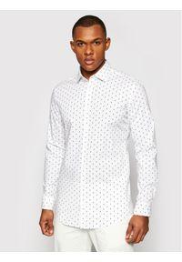 Pierre Cardin Koszula 4501/000/27420 Biały Slim Fit. Kolor: biały