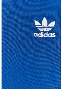 Niebieska bluza rozpinana adidas Originals na co dzień, bez kaptura