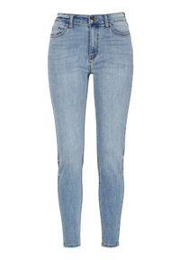 Niebieskie jeansy Freequent klasyczne, z podwyższonym stanem