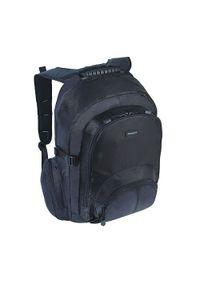 Czarny plecak na laptopa TARGUS w paski
