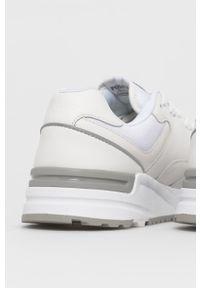 Białe sneakersy Polo Ralph Lauren z cholewką, na sznurówki
