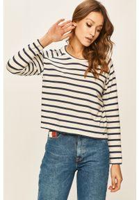 Niebieska bluzka z długim rękawem Pepe Jeans casualowa, na co dzień