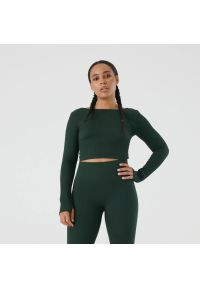 Sinsay - Crop top GYM HARD - Khaki. Kolor: brązowy