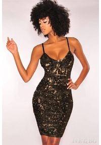 IVET - Sukienka BLING BLACK. Okazja: na imprezę. Typ kołnierza: dekolt w kształcie V. Kolor: czarny