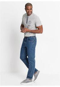 Niebieskie jeansy bonprix z podwyższonym stanem