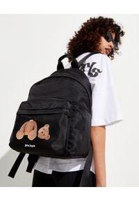 PALM ANGELS - Plecak z nadrukiem misia. Kolor: czarny. Materiał: materiał. Wzór: nadruk
