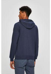 Niebieska bluza rozpinana Kappa z kapturem, gładkie #5