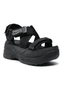 Shaka - Sandały SHAKA - Neo Freefall Chunky 433145 Black. Okazja: na co dzień. Kolor: czarny. Materiał: materiał. Styl: casual