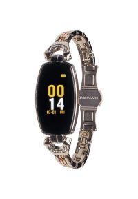 Srebrny zegarek GARETT elegancki, smartwatch