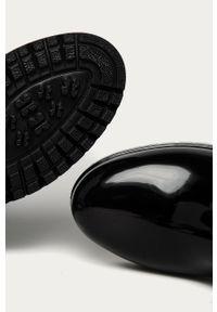 Czarne kalosze Answear Lab z okrągłym noskiem, z cholewką