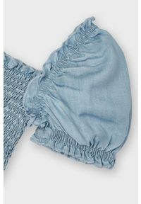 Niebieska bluzka Mayoral na co dzień, casualowa
