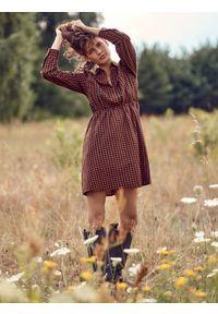 TOP SECRET - Bawełniana sukienka mini. Kolor: czarny. Materiał: bawełna. Typ sukienki: koszulowe. Długość: mini