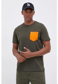 Tommy Jeans - T-shirt bawełniany. Okazja: na co dzień. Kolor: zielony. Materiał: bawełna. Styl: casual