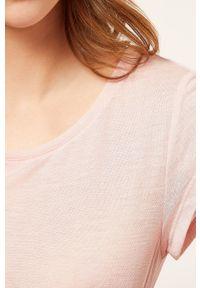 Etam - Koszula nocna WARM DAY. Kolor: różowy. Materiał: dzianina, koronka. Długość: krótkie
