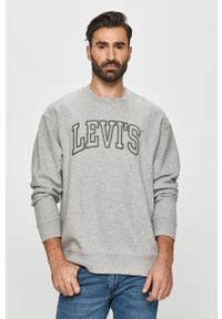 Levi's® - Levi's - Bluza. Okazja: na spotkanie biznesowe. Kolor: szary. Wzór: aplikacja. Styl: biznesowy