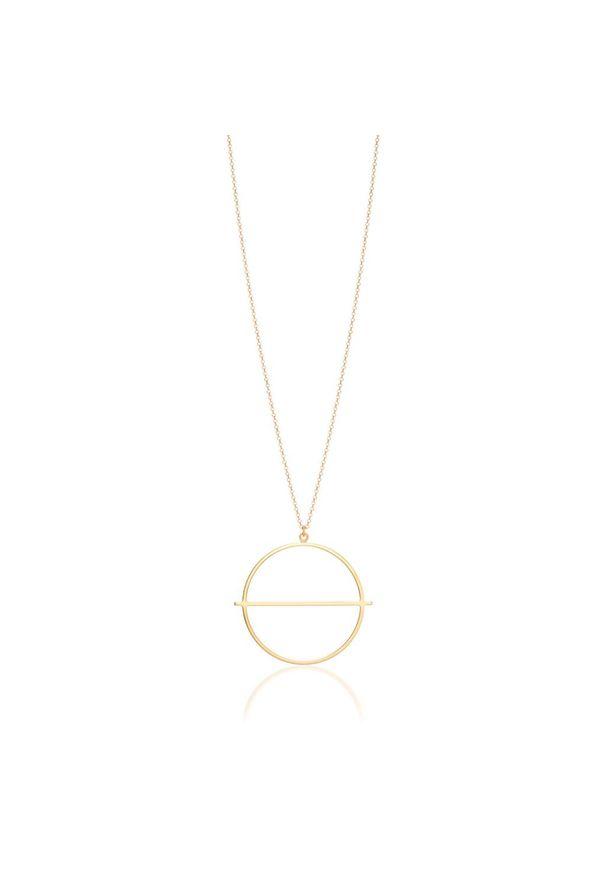 Złoty naszyjnik W.KRUK złoty, w geometryczne wzory