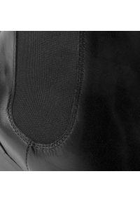 Czarne botki Unisa na obcasie, na średnim obcasie