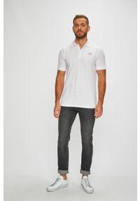 Biała koszulka polo Kappa casualowa, na co dzień