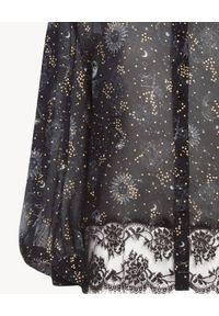 Ermanno Firenze - ERMANNO FIRENZE - Koszula z koronką i haftem Astri. Kolor: czarny. Materiał: koronka. Długość: długie. Wzór: haft, koronka. Styl: wizytowy, klasyczny, elegancki