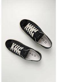Czarne sneakersy D.A.T.E. z okrągłym noskiem, z cholewką, na sznurówki #4