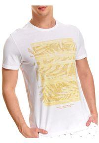 Biały t-shirt TOP SECRET krótki, z krótkim rękawem