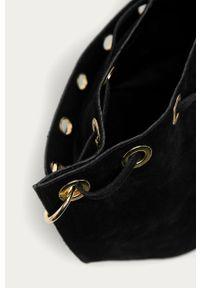 Czarna torebka Answear Lab na ramię, gładkie, zamszowa, wakacyjna