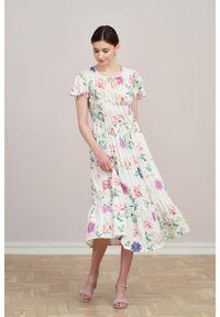Marie Zélie - Sukienka Modena Formosa. Materiał: wiskoza, materiał, bawełna. Długość rękawa: krótki rękaw. Wzór: aplikacja. Długość: maxi