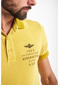Aeronautica Militare - POLO AERONAUTICA MILITARE. Typ kołnierza: polo. Długość rękawa: krótki rękaw. Długość: krótkie. Wzór: haft. Styl: klasyczny