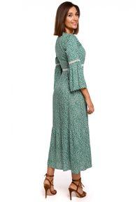 Style - Romantyczna sukienka 7/8 w drobne kwiaty BOHO. Materiał: materiał. Wzór: kwiaty. Styl: boho