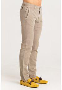 Brązowe spodnie JOOP! Jeans z aplikacjami