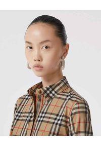Beżowa koszula Burberry w kratkę, vintage
