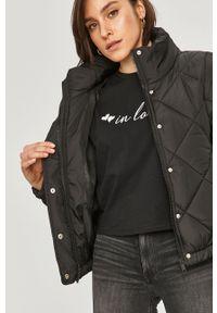 Czarna kurtka Answear Lab gładkie, bez kaptura #6