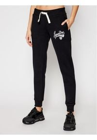 Superdry Spodnie dresowe Collegiate Scripted W7010437A Czarny Slim Fit. Kolor: czarny. Materiał: dresówka