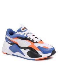 Niebieskie buty sportowe Puma z cholewką