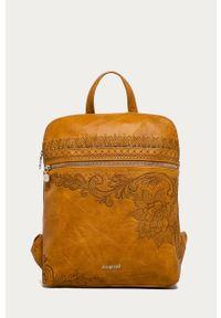 Żółty plecak Desigual elegancki