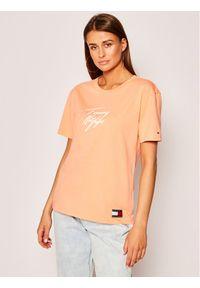 Pomarańczowy t-shirt TOMMY HILFIGER