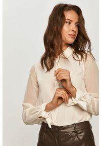 Biała koszula Pepe Jeans długa, z długim rękawem, klasyczna, z klasycznym kołnierzykiem